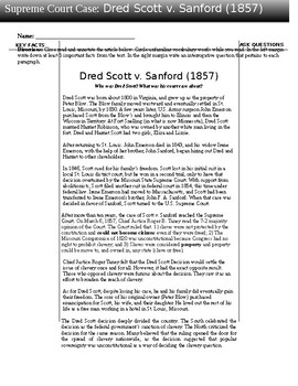 Dred Scott Case Lesson