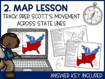 Dred Scott Article, Map Activity, & Summary Writing