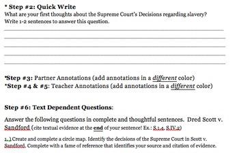 Dred Scott Decision Close Reading