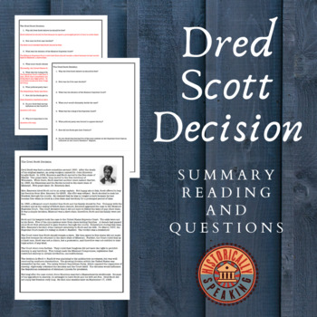 Dred Scott: Events Leading to Civil War