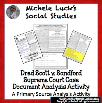 Dred Scott Teaching Resources Teachers Pay Teachers