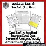 Dred Scott Supreme Court Case Document Analysis Activity S