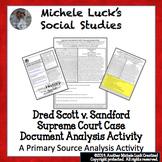 Dred Scott Supreme Court Case Document Analysis Activity S