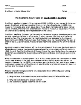 Dred Scott case analysis