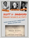 Dred Scott v. Sandford primary source analysis activity