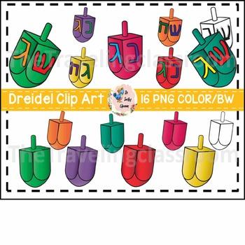 Hanukkah Dreidel Clip Art (Commercial Use)