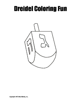 picture about Printable Dreidel identify Dreidel Coloring Website page