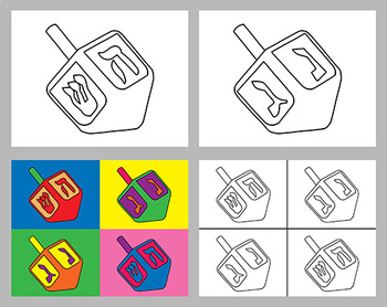 Dreidel Coloring Pages