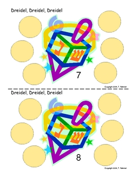 Dreidel, Dreidel, Dreidel!   Winter theme Math facts
