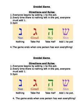 photograph relating to Dreidel Game Rules Printable titled Dreidel Sport Worksheets Lecturers Shell out Instructors
