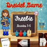 Hanukkah Dreidel Game FREEBIE for 3rd-5th Grades