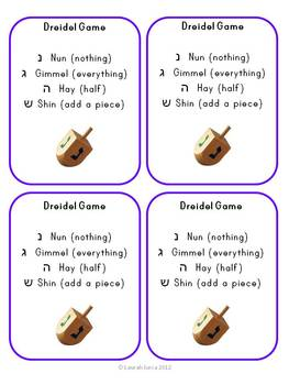 Dreidel Math: Practicing Halves