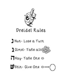 Dreidel Rules with Pictures