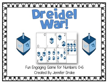 Dreidel War! Fun & Engaging Math Game/Center for #'s 0-6; CC Aligned!