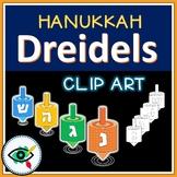 Hanukkah dreidels clipart