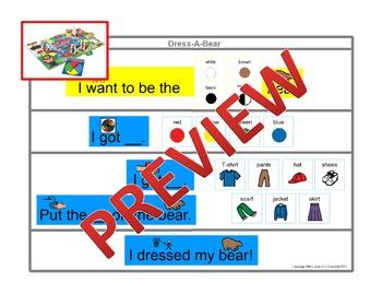 Dress-A-Bear {Board Game Visuals}