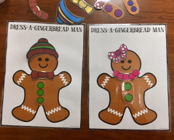 Dress A Gingerbread Man FREEBIE