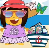 Dress-A-Girl-Dino At the Beach Reward!