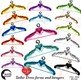 Dress Forms, Hangers, Mannequins Clipart, Silhouettes, AMB-1007