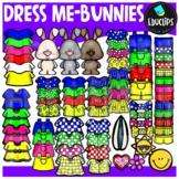 Dress Me ~ Bunnies Clip Art Bundle {Educlips Clipart}