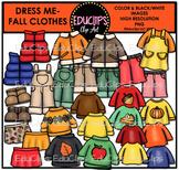 Dress Me ~ Fall/Autumn Clothes Clip Art Bundle {Educlips Clipart}