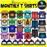 Dress Me ~ Monthly T Shirts Clip Art Bundle {Educlips Clipart}