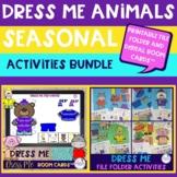 Dress Me Seasonal Animals BUNDLE - Printable and Digital A