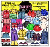 Dress Me ~ Spring Clothes Clip Art Bundle {Educlips Clipart}