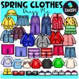Dress Me ~ Spring Clothes Clip Art Bundle {Educlips Clipart}