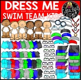Dress Me Swim Team kids Clip Art Set {Educlips Clipart}