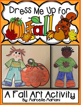 Fall-Autumn Art Activity-Dress Me Up For Fall! Color, Cut,