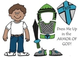 Dress Me Up in the Armor of God Eph 6 Printable, Cut & Color Paper Doll