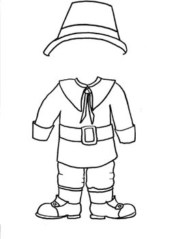 Dress Me Up like a Pilgrim Customizable Boy and Girl Paper Doll