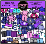 Dress Me ~ Winter Clothes Clip Art Bundle {Educlips Clipart}