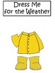 Dress Me for the Weather Bulletin Printable