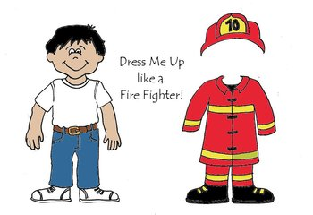 Dress Me up like a Fire Fighter - Community Helpers Color and Cut Paper Dolls