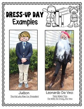Character Dress-Up Book Report: Dress Up as your Favorite Book Character!