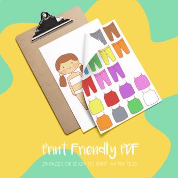 Clothing Clip Art Bundle + 8 Cute Kids Characters