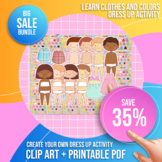 Clothing Clip Art Bundle + 8 Cute Kids Characters