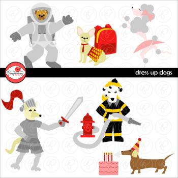 Dress Up Dogs Clipart by Poppydreamz