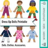 Dress Up Dolls Printable