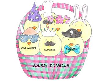 Dress-Up Easter Chicks