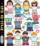 Dress-Up Kids Clip Art & Printables Download