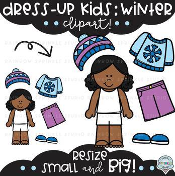Dress-Up Kids: Winter Clipart {winter clothes clipart}