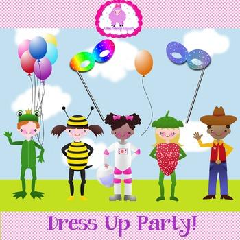 Dress Up Party Clip Art