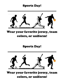 Dress Up Theme Day Flyers