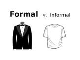 Dress Up Words: Formal v. Informal Language PPT