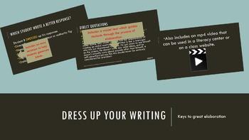 Dress Up Your Writing: Keys to Elaboration