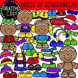 Dress Up a Gingerbread Man: Christmas Clipart {Creative Clips Clipart}