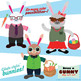 Dress a Bunny Clip Art Set